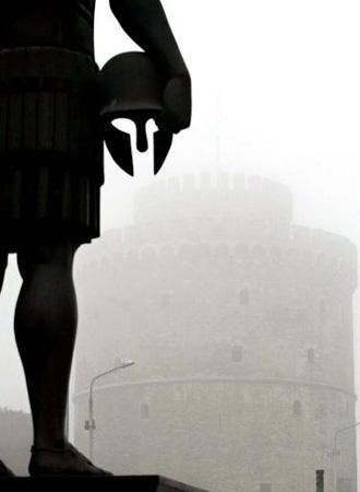 STATUE OF KING PHILLIP II IN FRONT OF THE WHITE TOWER-THESSALONIKI, MAKEDONIA, GREECE