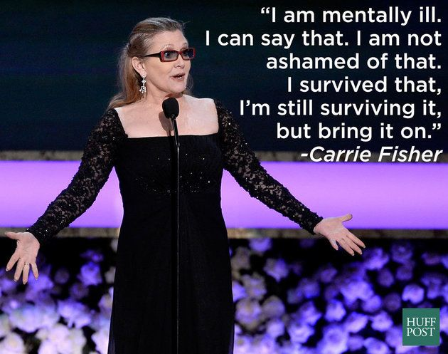 A Reminder That 'Princess Leia' Is An O.G. Mental Health Hero She's been speaking out against stigma for years.