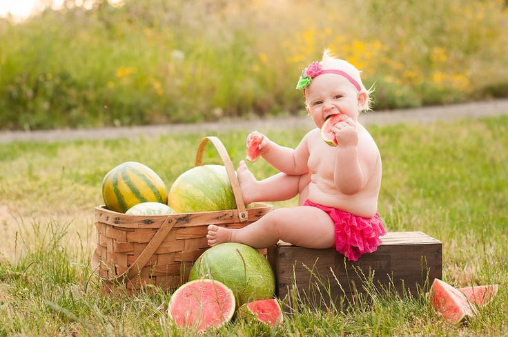 Watermelon theme pictures: One Year Old Girl Portraits / On Location / Robinwood Photography / Oregon City Photographer