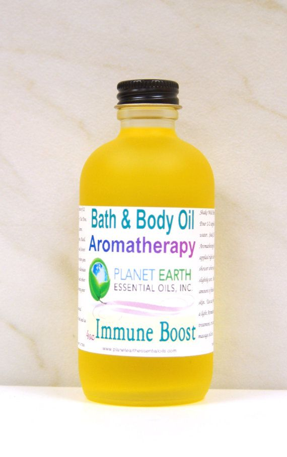 IMMUNE BOOST Aromatherapy Bath & Body Oil     by planetearthoils, $20.00