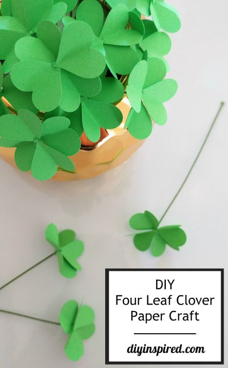 Do you enjoy making paper flowers? Put a spin on a DIY for St. Pattys! Click here to learn how to make paper four leaf clovers from DIY Inspired. The craft might just bring you good luck!