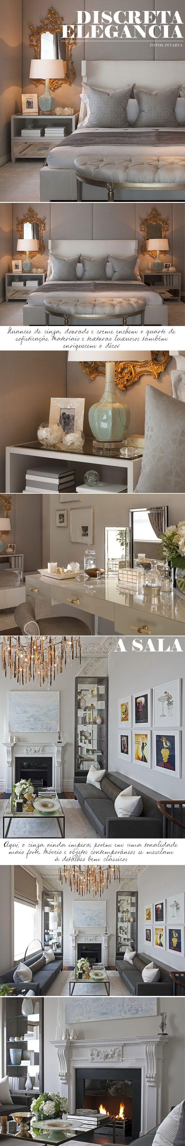 Love the modern take on the posters, White frames and modern from living-gazette-barbara-resende-comodos-quarto-sala-classico-contemporaneo-elegante-discreto