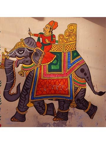 Indian mural painting