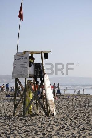 Watchtower on beach