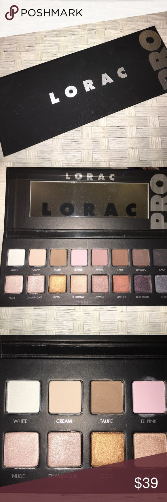 ✨Lorca Pro Eyeshadow Palette 1✨ Created by celebrity makeup artist Carol Shaw, this PRO artistry palette is packed with 8 shimmer and 8 matte eye shadows. LORAC's velvety-smooth shadows are infused with soothing botanicals and are ultra-pigmented to perform wet or dry so you can shade, shadow, line and define your eyes, just like a PRO!