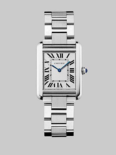 Cartier - Tank Solo Stainless Steel Bracelet, Small - Saks.com