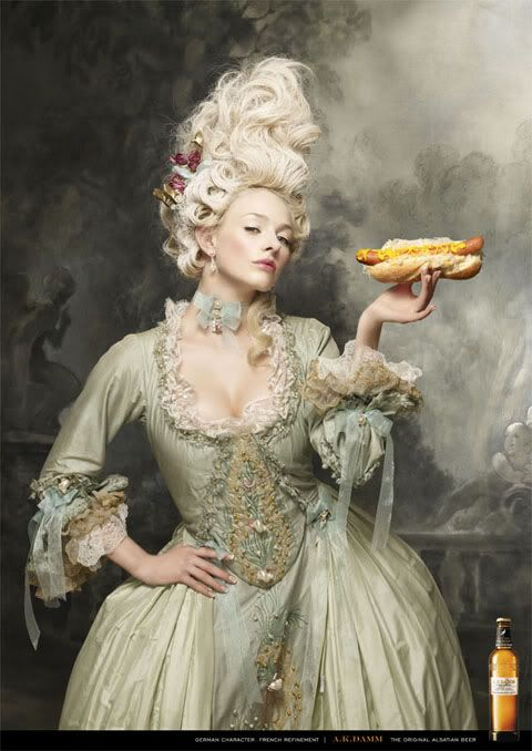 Rococo. With a hot dog.