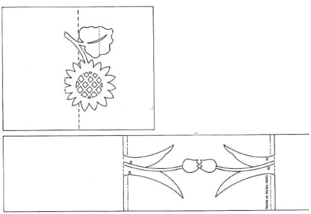 Киригами схемы шаблоны открыток, третьего рейха картинка