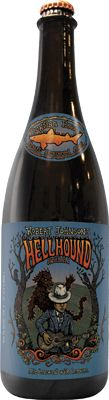 """Dogfish Head Brewery's """"Robert Johnson's Hellhound on my Ale"""" craft beer. A friend gave me a bottle for Christmas and I am looking forward to trying this one out."""
