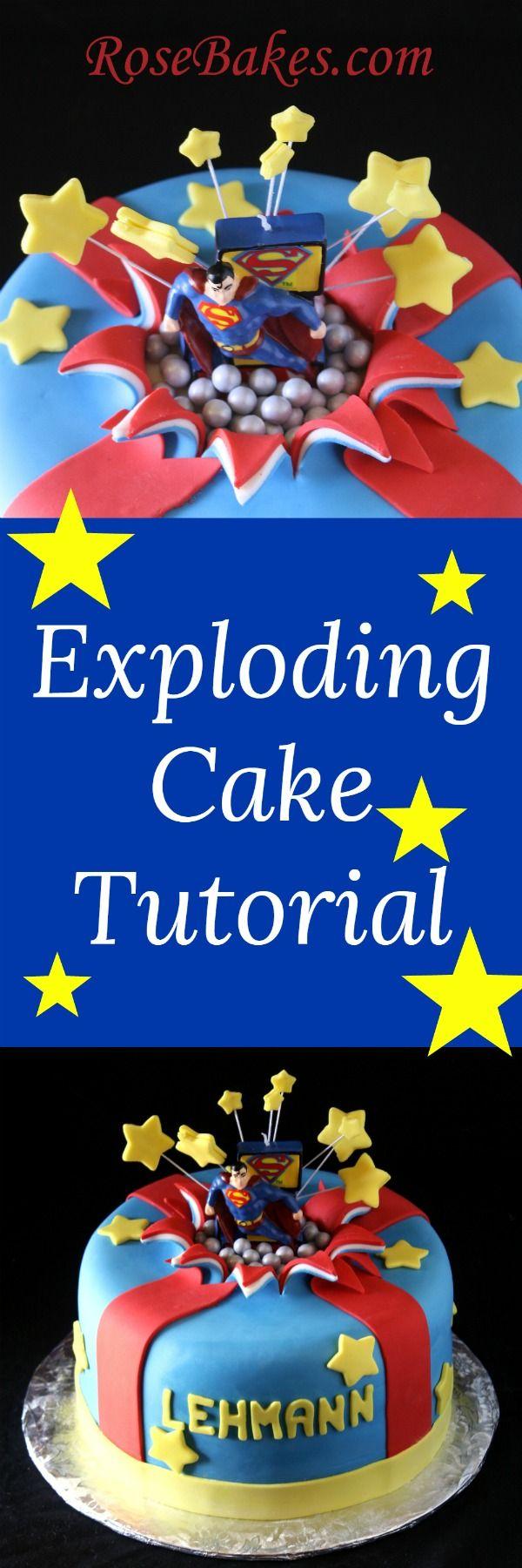 Exploding Cake Tutorial