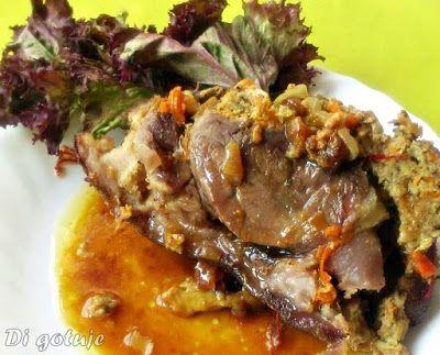 Di gotuje: Golonka faszerowana mięsem mielonym (pieczona w rę...