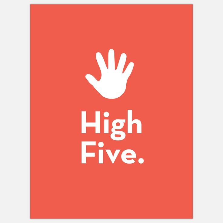High Five by Pieter Jan Mattan #Print #Pieter_Jan_Mattan #High_Five