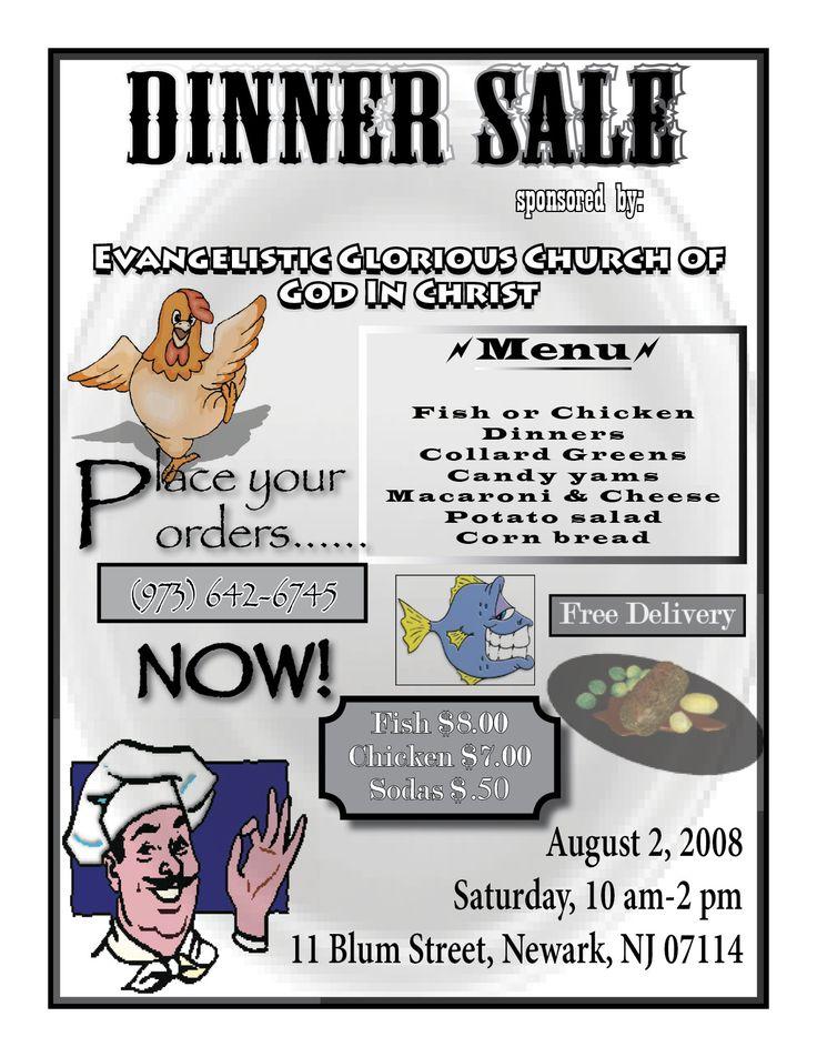 flyers for selling dinners - Klisethegreaterchurch
