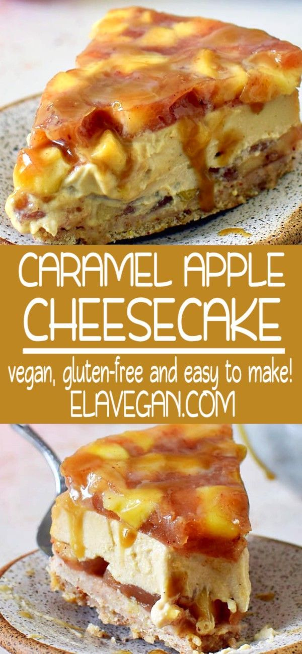 This Caramel Apple Cheesecake With A Homemade Apple Pie Filling