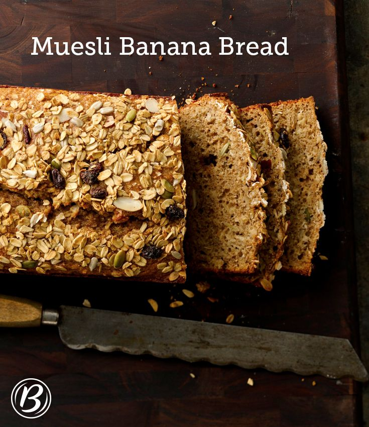 Buttermilk banana bread gets a boost of texture and taste courtesy of Nature Valley toasted oats muesli. Don't have buttermilk on hand? Regular or low-fat milk can be substituted and it'll still taste great.