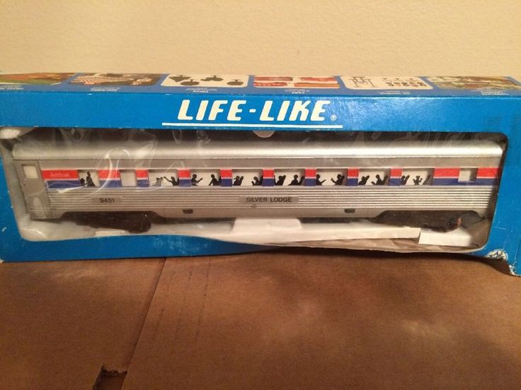 Life Like Amtrak Silver Lodge 9451 Model RR Car as Is | eBay