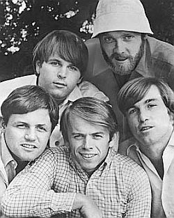 The Beach Boys mid-1960s, from top left clockwise: Carl Wilson, Mike Love, Dennis Wilson, Al Jardine & Bruce Johnston.