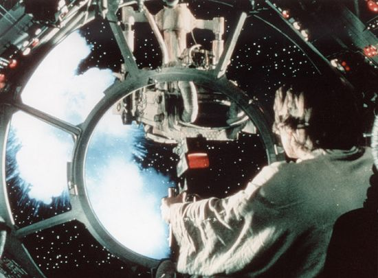 millenium falcon shoots tie fighter | ... very own ...