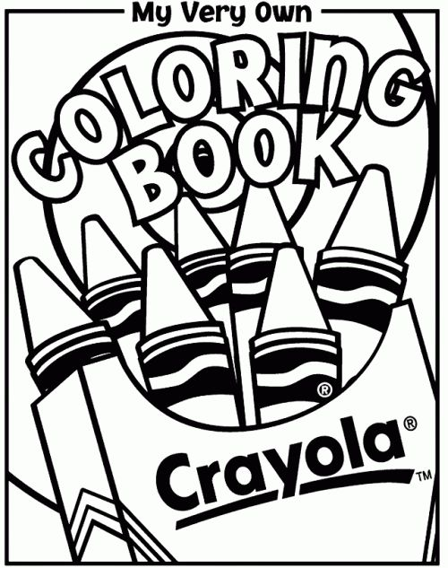 crayola coloring book free pages are available to print and add to this cover sheet making a coloring book that matches your childs interests - Crayola Coloring Pages
