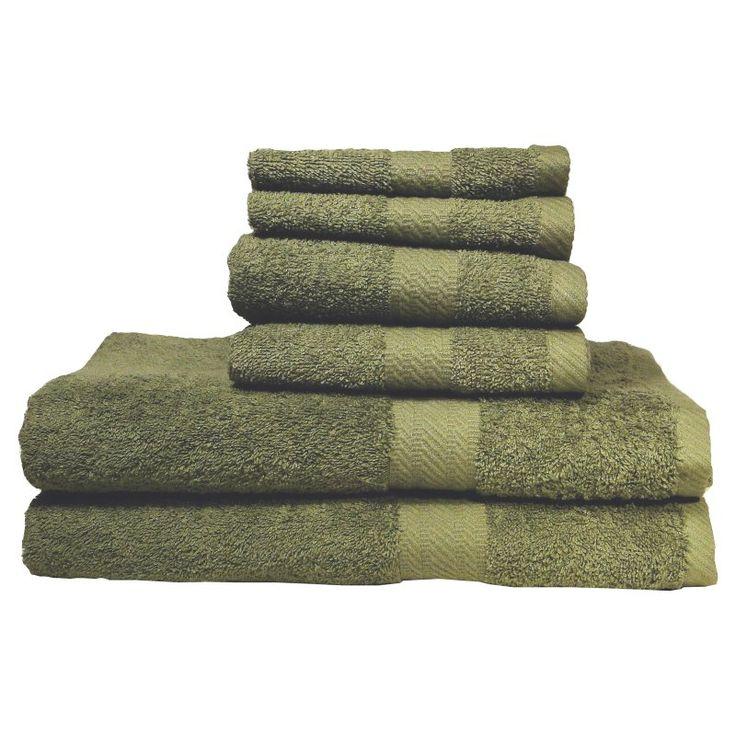 Baltic Linen Company Ultraspun Soft Absorbent 100% Cotton 6 pc. Towel Set Moss Green - 353163420