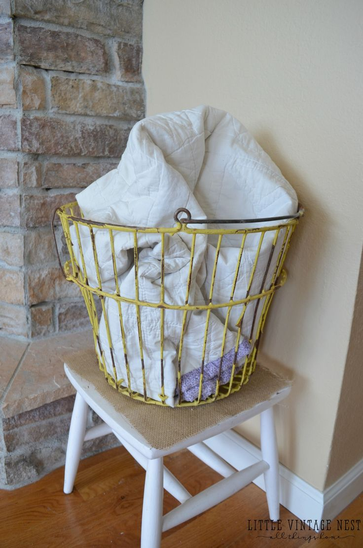 Farmhouse Style: Decorate with Wire Baskets
