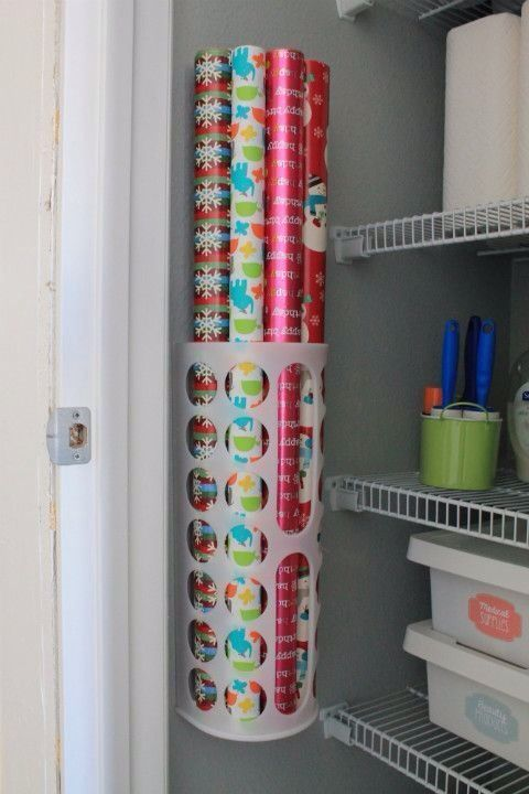 Use in downstairs closet!