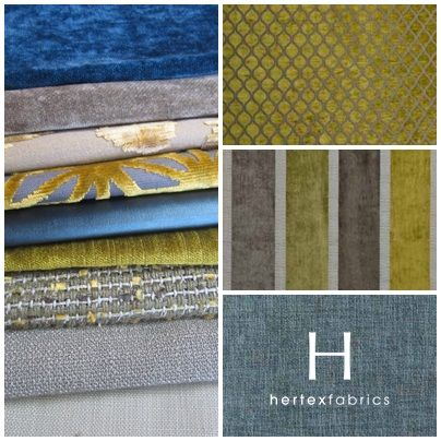 Hertex Fabrics-contrast color-yellow and blue
