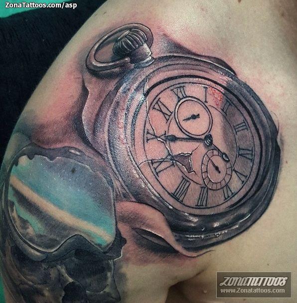 Tatuaje hecho por Álvaro Sánchez, de Granada (España). Si quieres ponerte en contacto con él para un tatuaje o ver más trabajos suyos visita su perfil: http://www.zonatattoos.com/asp    Si quieres ver más tatuajes de relojes visita este otro enlace: http://www.zonatattoos.com/tatuaje.php?tatuaje=102800    #Tatuajes #Tattoos #Ink #Relojes