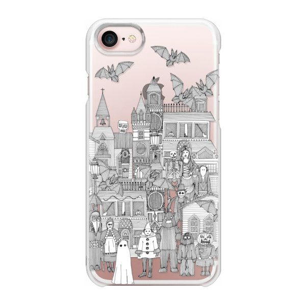 Vintage halloween black white transparent - iPhone 7 Case And Cover ($35) ❤ liked on Polyvore featuring accessories, tech accessories, iphone case, black and white iphone case, transparent iphone case, iphone cases, apple iphone case and slim iphone case