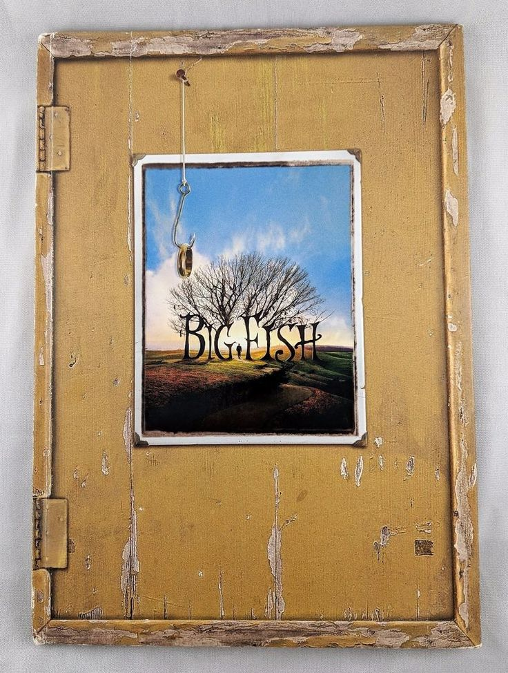 Big Fish Movie Promo Photo Book Signed by Daniel Wallace Autograph & Drawing