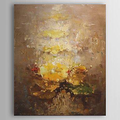 pinturas a óleo pintura abstrata, com quadro esticado pronto para pendurar telas pintadas à mão de 1365626 2016 por R$304,76