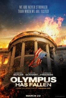 """Olympus Has Fallen"", thriller with Aaron Eckhart, Gerald Butler and many other manly men. Also Morgan Freeman!"