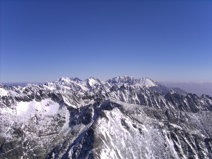 View from Krivan Summit (Slovakia) over High Tatry