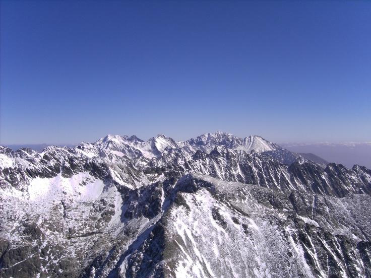View from Krivan Summit (Slovakia) over High Tatry