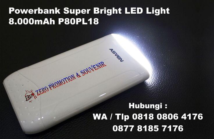 Souvenir Powerbank Super Bright LED Light 8.000mAh P80PL18