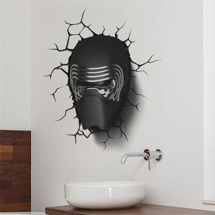 Star Wars Kylo Ren 3D effect Wall Sticker //Price: $11.95 & FREE Shipping //     #stickers