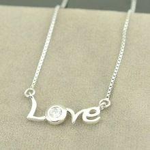 Nueva moda 100% S925 plata esterlina collares amor collar de collar de mujer / pareja