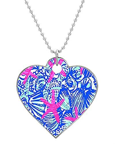 Lilly Pulitzer Fashion Custom Big Heart Pet Dog id Tag Aluminum Useful Tags as a Nice Gift ** Check out this great product.