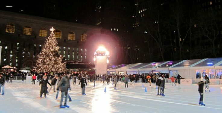 Bryant Park > America's Coolest Outdoor Skating Rinks   MiniTime.com
