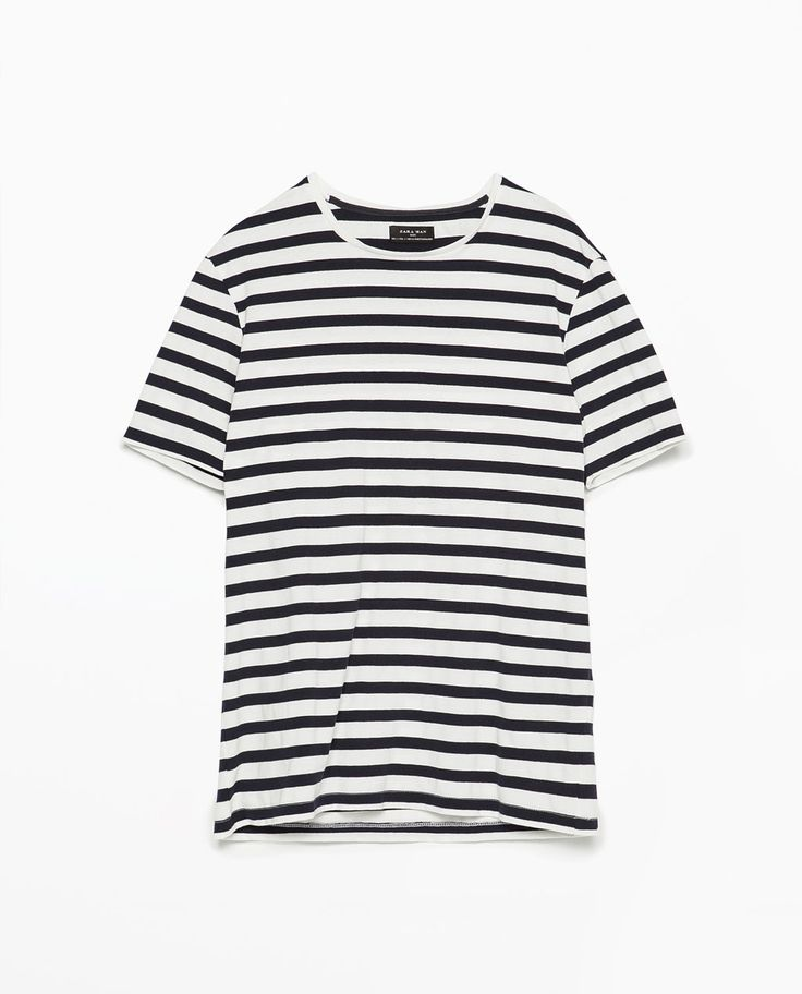 ZARA - MAN - Striped piqué T-shirt
