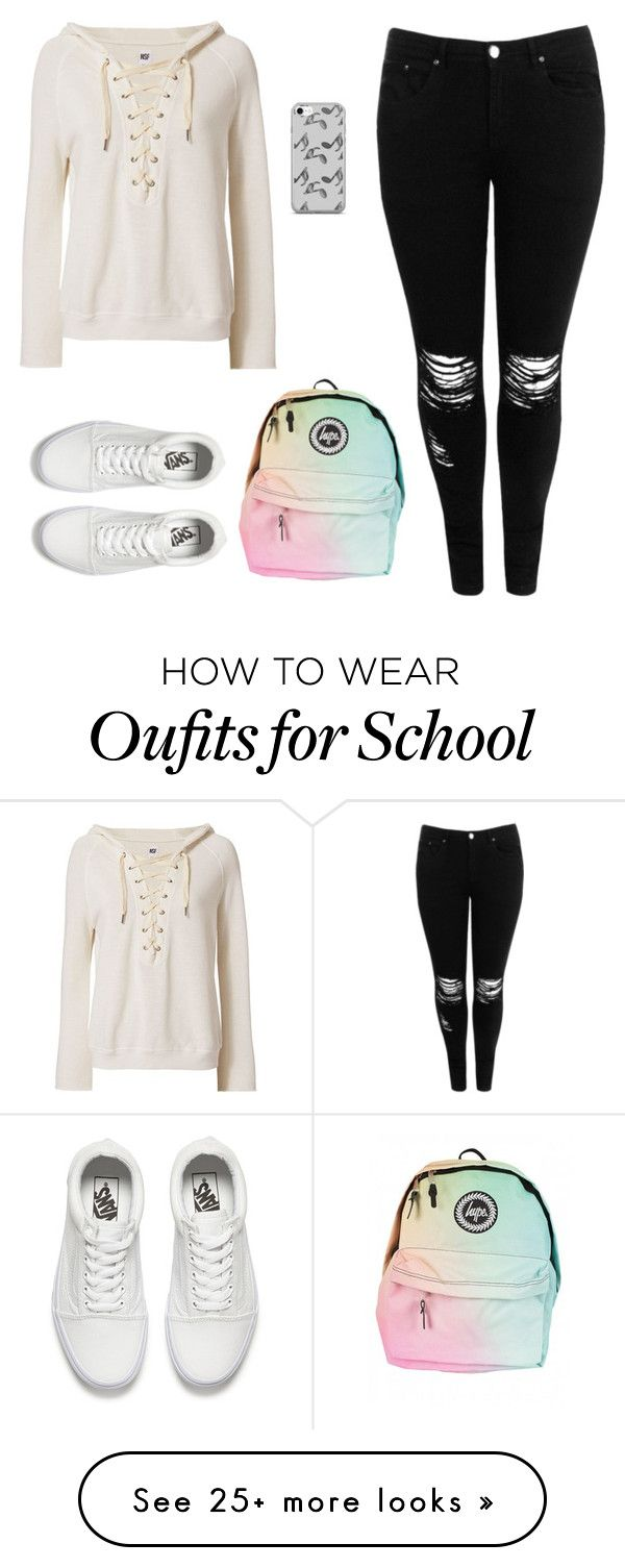 """""""Time to school"""" by vikysimpson on Polyvore featuring Boohoo, Vans, NSF and Music Notes"""