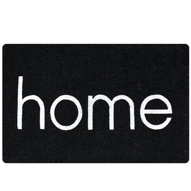 """Make an entrance with this """"Home"""" doormat in black and white. Visit www.hardtofind.com.au for more stylish monochrome finds. #floor #style #home #entrance hard to find monochrome style"""