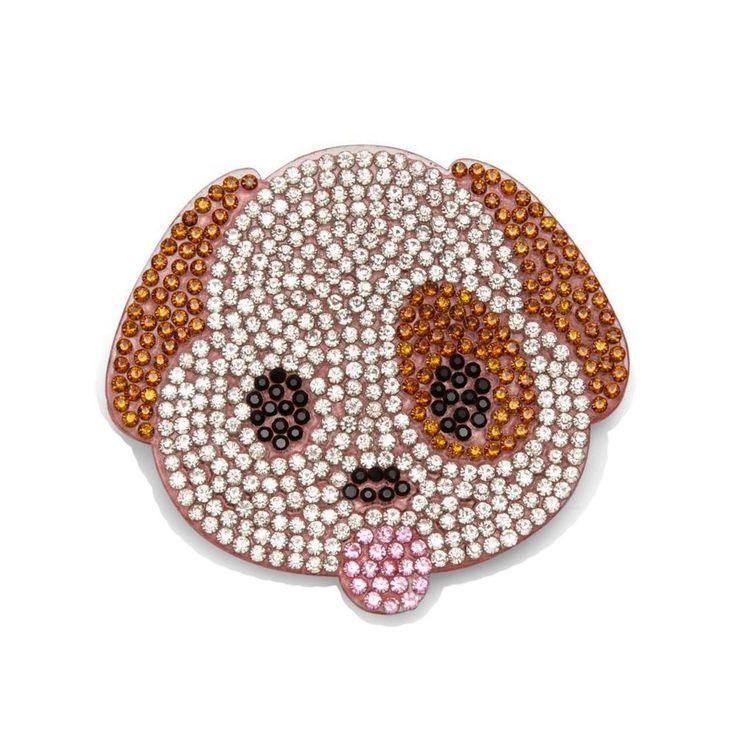 BARI LYNN Emoji Puppy Crystal Clip