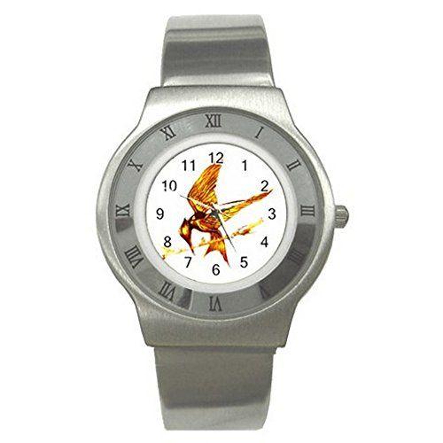 Mockingjay Hunger Games UNISEX ADULT Slim Stainless Steel Watch Quinn Cafe http://www.amazon.com/dp/B00V33ZE40/ref=cm_sw_r_pi_dp_r98dvb1XQ3EPN