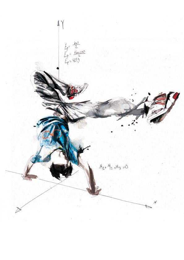 Break Dance - Volnorez by Florian NICOLLE, via Behance. Breakdance, math, and geometry. Teaching: Real world applications!
