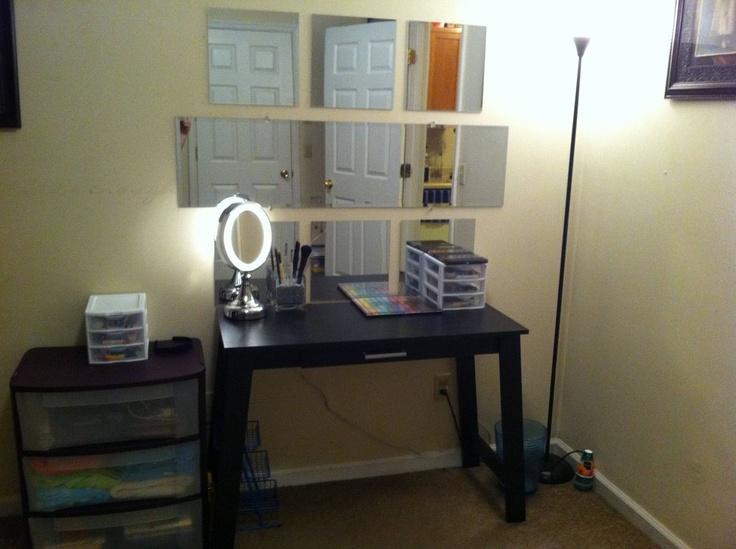 DIY Vanity Setup Via Reddit