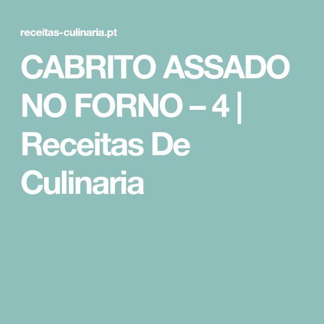 CABRITO ASSADO NO FORNO – 4   Receitas De Culinaria