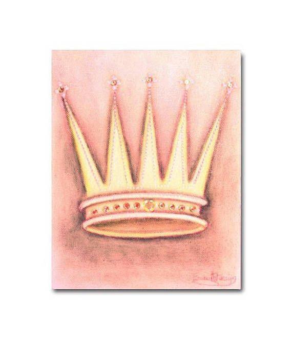 Princess Crown Baby Girl Nursery Princess Wall Art Girls