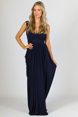 Aphrodite Maxi Dress - Navy
