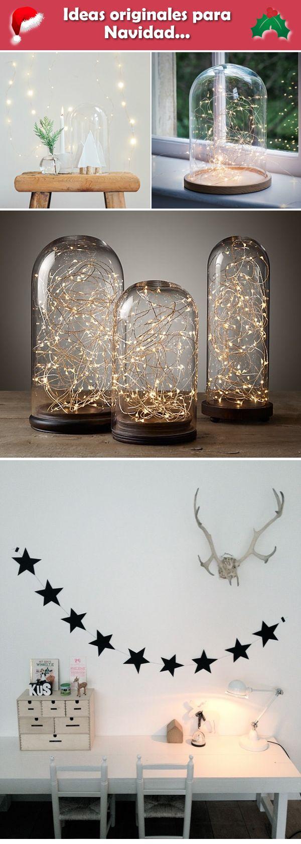 Ideas originales para la decoración navideña. Decoración navideña original.